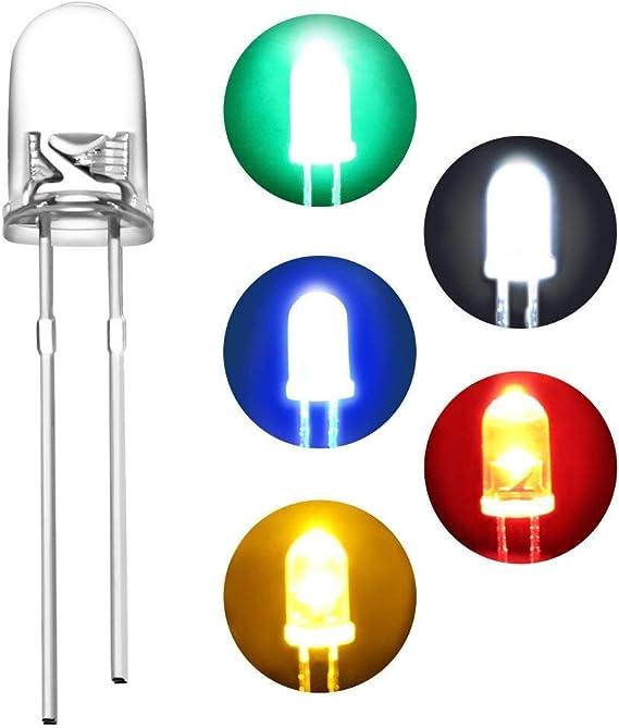 50 unidades LED 1,8mm rojo super brillante mini miniatura diodos luminosos
