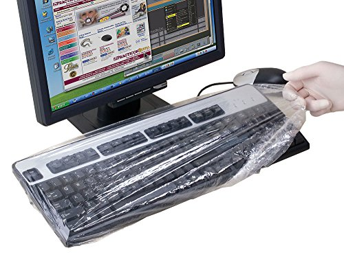 Practicon 7077010 Large QUIKcaps Keyboard Barrier (Pack of 400)