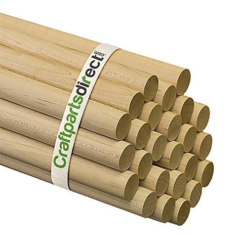 Wooden Dowel Rods - 7/8