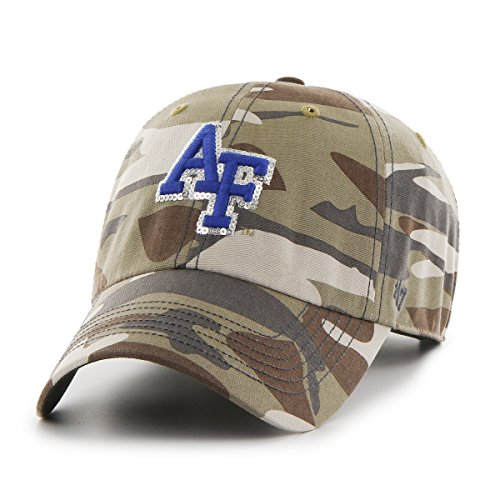 '47 NCAA Air Force Falcons Women's Sparkle Camo Clean Up Adjustable Hat, One Size, Faded Camo Air Force Falcons Gear