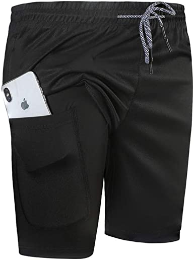 VANVENE Mens Shorts Casual Gym Jogging Summer Quick Drying Breathable Training Elasticated Waist Sports Shorts with Pockets