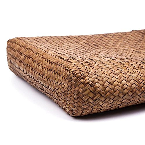 bag fiore e a Borsa Tote shopping borsa cestino tessuto tessuto spalla da viaggio Tote grande spiaggia a a mano donna mano UrOURq8n