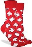 canada maple leaf clothing - Good Luck Sock Women's Canada Maple Leaf Crew Socks, Red, Shoe Size 5-9