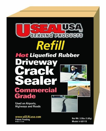 Useal USA Hot Liqufied Rubber, Driveway Crack Sealer (Refill), #68119 (Best Asphalt Sealer Reviews)