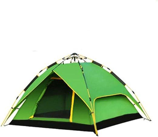 ZR Cuenta Doble Tienda de Cuatro Estaciones al Aire Libre 3-4 Personas hogar automático a Prueba de Lluvia Tienda de campaña de Camping Verde Azul Gris Verde (Color : Verde): Amazon.es: Hogar