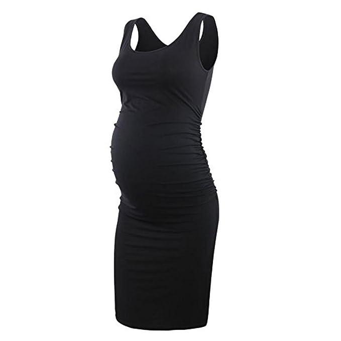 fea0139c376c9 Women s Maternity Sleeveless Dresses Maternity Tank Dress Mama Scoop Neck  Baby Shower Pregnancy Dress (2X