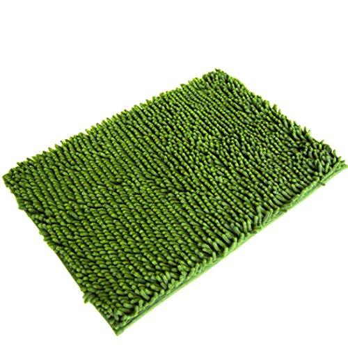 Rumas Soft Shaggy Non Slip Absorbent Bath Mat Bathroom Shower Rugs Carpet (green)