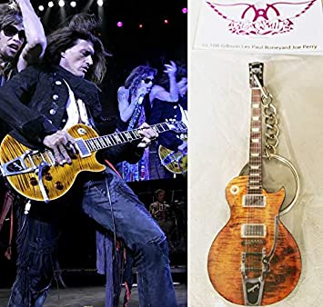 Keychain Guitar Gibson Les Paul Boneyard Joe Perry Aerosmith