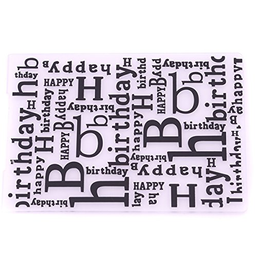 CH Happy Birthday Plastic Embossing Folders For DIY Scrapbooking Paper Craft/Card Making Decoration Supplies (Word Embossing Folder)