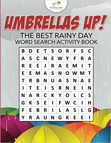 98cf79aad5ee Umbrellas Up! The Best Rainy Day Word Search Activity Book: Kreative ...