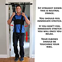 Sit and Decompress - The Ultimate Back Stretcher / Lumbar Traction -  Increase your disc space by 20% instantly while in use  (Medium Harness  Only)