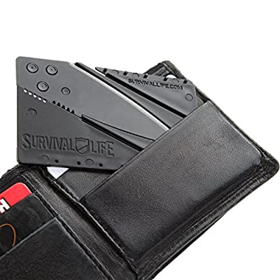 """Credit Card Knife - Folding Ultra-Thin Pocket Safety Tool by Survival Lifeâ""""¢ by Survival Life"""