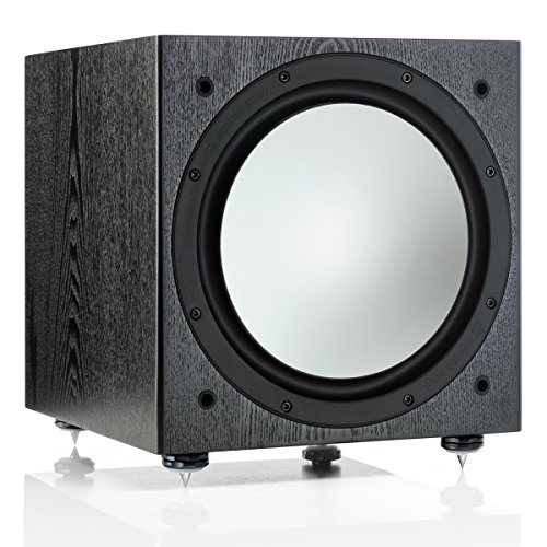 Monitor Audio - Silver Series - W-12 - Powered Subwoofer - Black Oak -