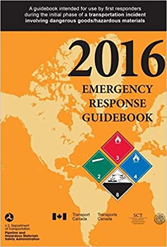 5.5 Width Spiral Bound Full Size Labelmaster ERG0023 White Paper 2016 Emergency Response Guidebook 0.300 Height