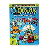 OiDroids Pop-out Papercraft Robot Cards 12 Pack - pre-cut and creased collectible robot paper toys