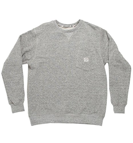 Iron & Resin Long Sleeve Stocker Crew l Heather Gray Long Sleeve Fleece