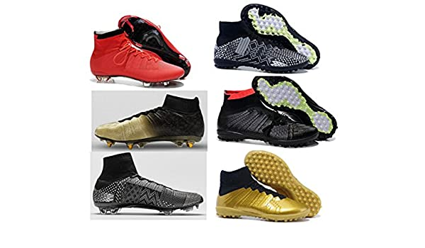 94665b790c9 Amazon.com  new cheap 2015 high ankle Cristiano mens Ronaldo X 10 Soccer  cleats footwear CR7 football shoes boots size 39-45  Sports   Outdoors