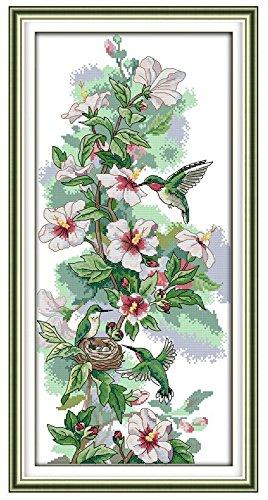 Hummingbird Cross Stitch Pattern - Happy Forever Cross Stitch, animal birds, The art of hummingbirds