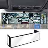 Eximone Foldable Car Rear View Mirror Convex 360° Rotation Wide Angle Blind Spot Adjustable Buckle for Vehicle/Car/Truck/Van/SUV