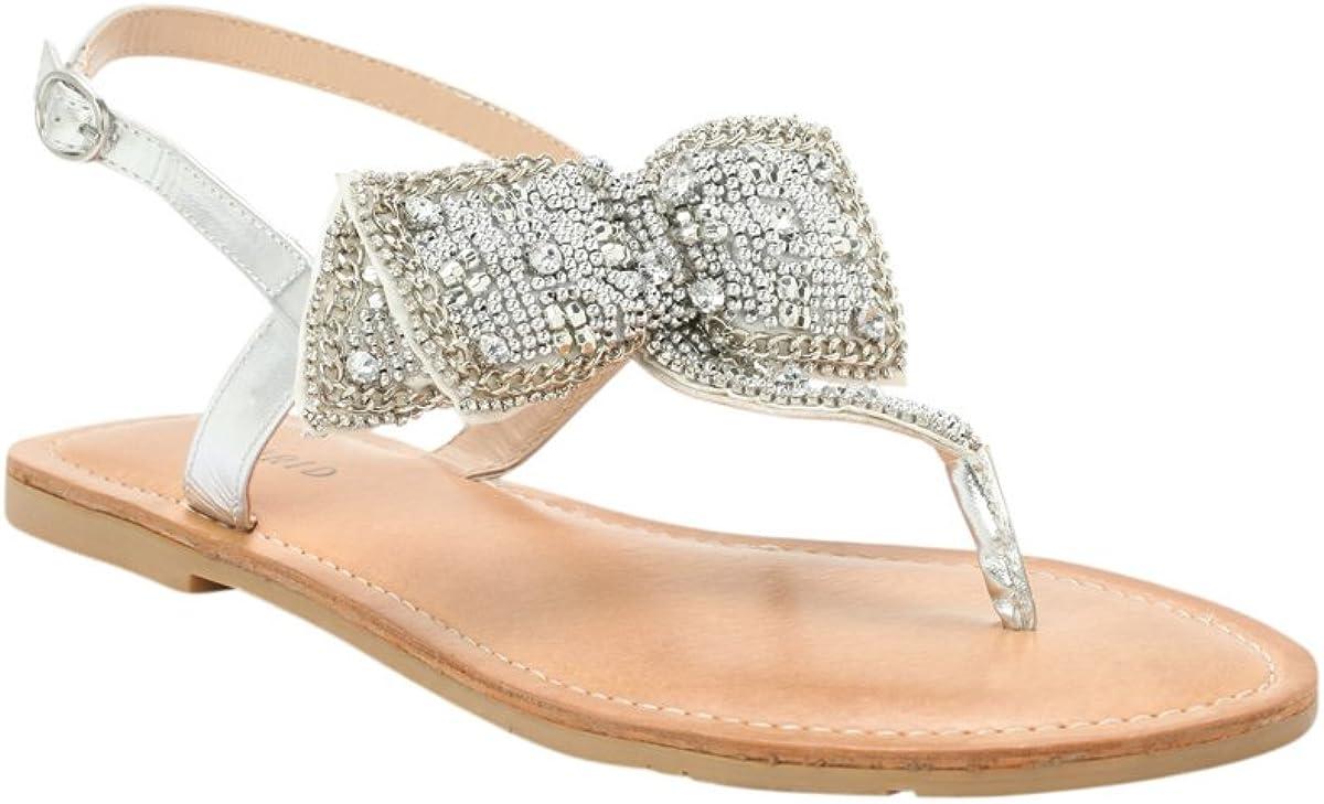 Torrid Embellished Bow Flat Sandals