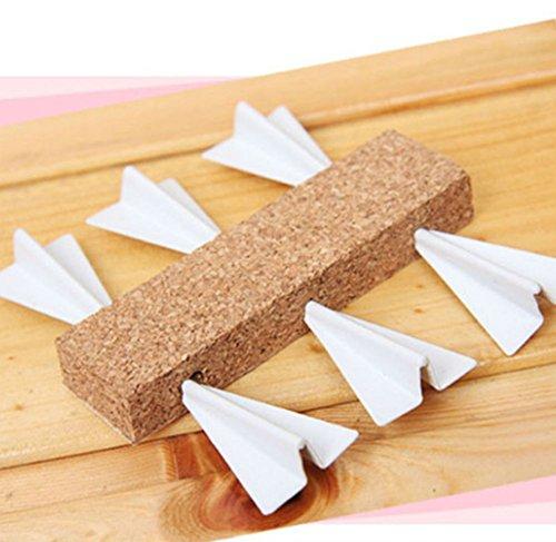 AKOAK 6 Pcs/Set Creative Novelty Cork Board Flying Pushing Paper Airplane Pushpins Cork Board Tacks