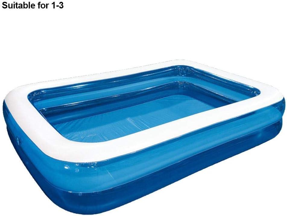 Piscina hinchable familiar, piscina de remo rectangular, piscina gruesa resistente al desgaste niños, adultos, jardín aire libre, patio trasero, fiesta de agua de verano, opciones de tamaño múltiple