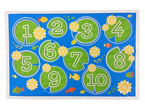 little-things-disposable-stick-on-placemats-for-baby-fish-pond-theme-100-bpa-free-makes-cleaning-up-