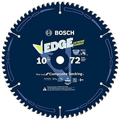 "Bosch DCB1072CD 10"" 72 Tooth Edge Circular Saw Blade for Composite Decking"