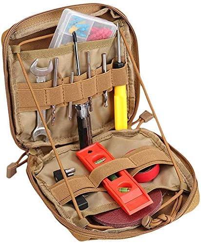 JPIKUV molleバッグ・ポーチ ツールバッグ 道具袋 工具差し入れ 工具バッグ 小物入り (カーキ)