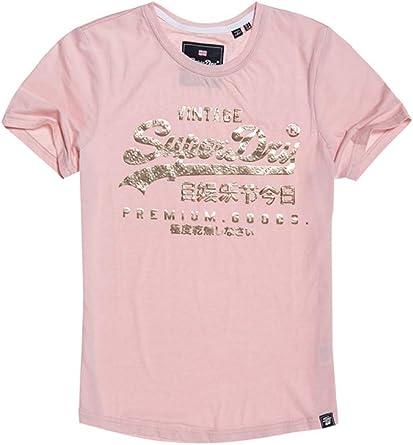 Superdry Premium Goods Puff Foil Infill Camiseta para Mujer