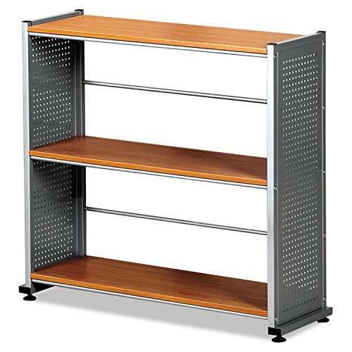 Price comparison product image Mayline 993MEC Eastwinds Accent Shelving, Three-Shelf, 31-1/4w x 11d x 31h, Medium Cherry