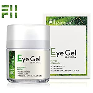 Forest Heal Eye Gel With Collagen Peptides and Niacinamide - Natural Anti Aging, Anti Wrinkle Moisturizer For Under and Around Eyes - 1.69 fl.oz.