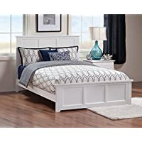 Madison Bed with Matching Foot Board, Full, White