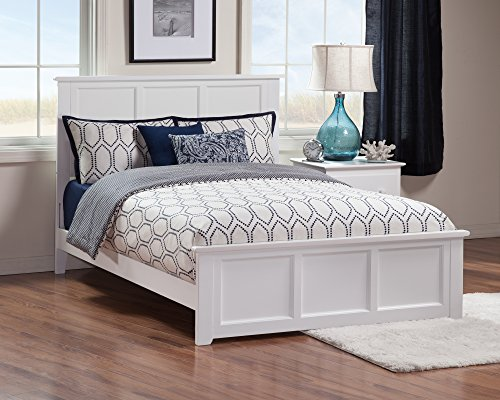 Atlantic Furniture Madison Traditional Bed, Full, White