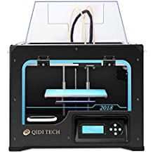 QIDI TECHNOLOGY 3DP-QDA16-01 Dual Extruder Desktop 3D Printer QIDI TECH I, Fully Metal Frame Structure, Acrylic Covers, with2 Free Filaments, Works with ABS and PLA