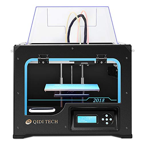 QIDI TECHNOLOGY 3DP-QDA16-01 Dual Extruder Desktop 3D Printer QIDI TECH I,  Fully Metal Frame Structure, Acrylic Covers, with2 Free Filaments, Works