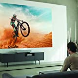 LG HU85LA Ultra Short Throw 4K UHD Laser Smart Home Theater Cinebeam Projector with Alexa built-in, LG Thinq AI, the Google Assistant and LG webOS Lite Smart TV