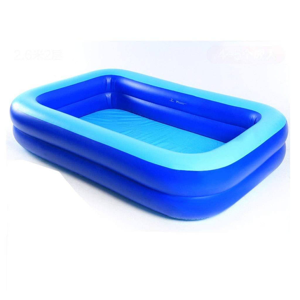 TYUIO 膨脹可能な子供プール、膨脹可能で柔らかい床が付いている青い子供のプールの夏水楽しみの浴槽 B07SCLKDFQ