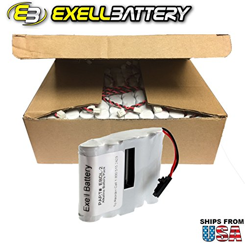 48x Exell Battery Door Lock 6V 4-Cell Battery Pack Fits Saflok 54990 Replaces HTL1 , 884955, EDL4AS, HTL17, IC, Interstate DRY5565, Passport, PMI54990, S54490, SL2500, System 5000 FAST USA SHIP by Exell Battery