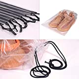 DIOMMELL Set of 24 Transparent Shoe Bags for Travel