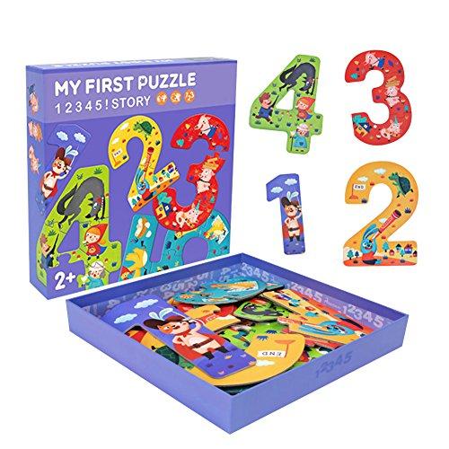 キッズおもちゃ パズル ベビー知育玩具 数字カード 数字認知 紙 幼児 面白い