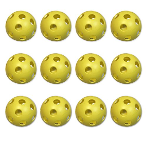 Plastic Training Softballs (CSI Cannon Sports Plastic Softballs, Yellow, 12 Count)
