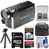 Bell & Howell DV30HD 1080p HD Video Camera Camcorder (Black) 16GB Card + Case + Flex Tripod + Kit
