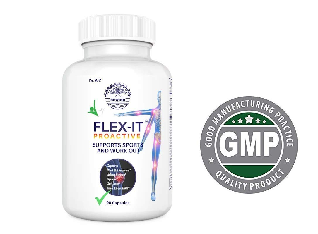 Flexit Joint Supplement for Men, Women, Astaxanthin, L Arginine, L Carnitine, Creatine monohydrate, Supports Work Out Exercise Muscle Recovery, Joints, Skin, Eye and Immune Health, Gluten-Free 90