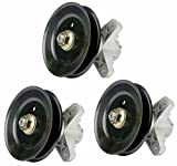 Erie Tools Three (3) Pack Lawn Mower Deck Spindle Assembly & Pulley for Cub Cadet 618-04125 618-04126 I1050, LT, SLT & RZT Zero Turn