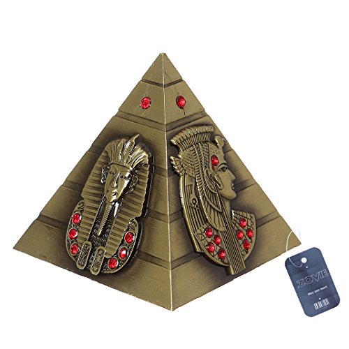 (ZOVIE Metal Egyptian Pyramid Pharaoh Avatar Statue Home Decor)