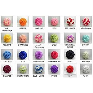 5 PCS HOT SELL Colorful High Quality, 15~40CM Rose Pomander Flower Kissing Ball 3