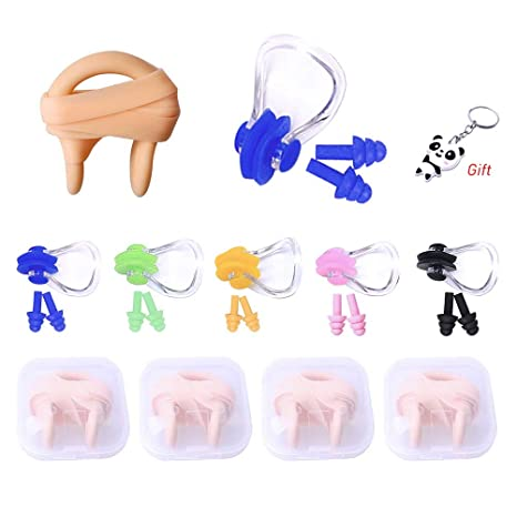 Silica Gel Swimming Nose Plug Swimming Accessories for Kids and Adults Fashion Road 10Pcs Nose Clip