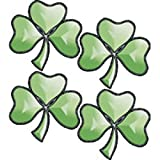 Stained Glass Supplies Mini Green Shamrocks Bevel Cluster Kit