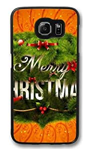 Christmas Happy New Year PC Case Cover for Samsung S6 and Samsung Galaxy S6 Black